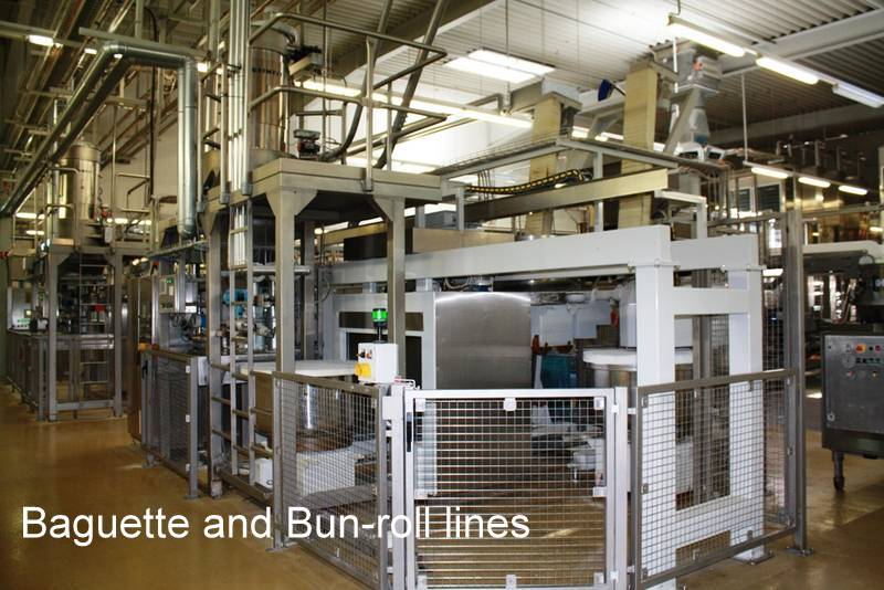 Baguette and Bun-Roll Lines for Industrial or Commercial Bakery